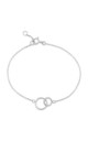 Kelso Sterling Silver Bracelet with Circle Charm by Auree Jewellery