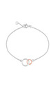 Kelso Sterling Silver & Rose Gold Bracelet with Circle Charm by Auree Jewellery