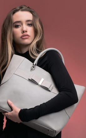 Grey Vegan Faux Leather Tote Bag by Always Chic