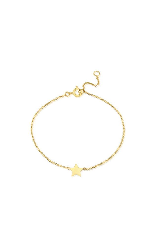 Soho Yellow Gold Bracelet with Star Charm by Auree Jewellery