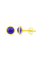 Savanne Gold Stud Earrings with Lapis Lazuli by Auree Jewellery