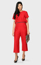 'Two In One' Zipped Jumpsuit In Red by Till We Cover