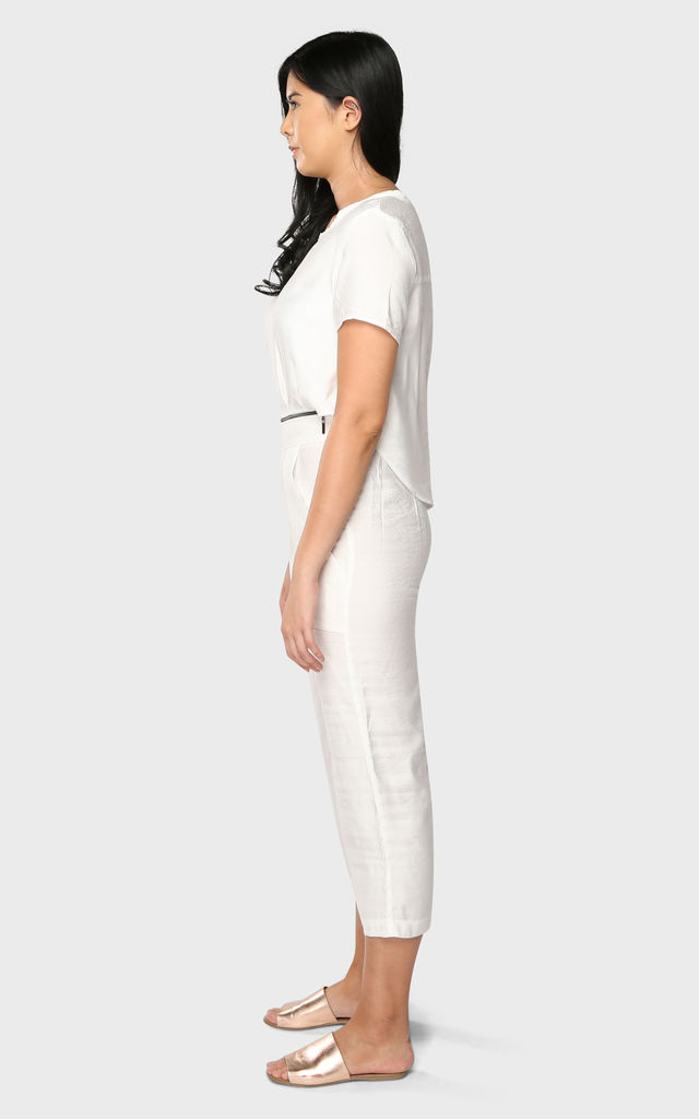'Two In One' Zipped Jumpsuit In White by Till We Cover