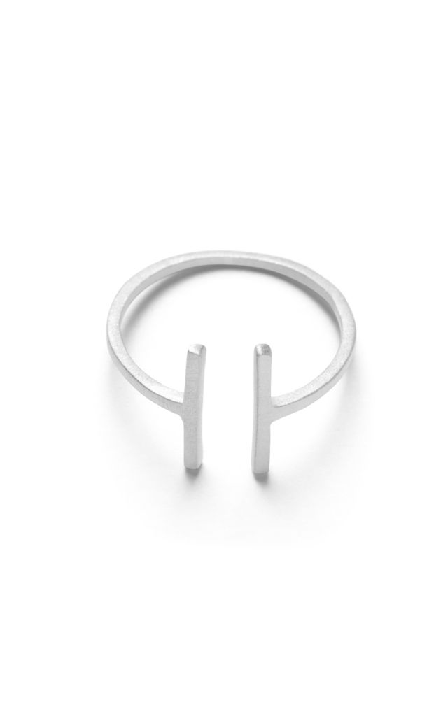 Neena Open Ring - Sterling Silver (Matt) by So Just Shop