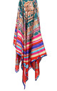 Large Square Silky Regal Tassel Rope Print Scarf in Red by Urban Mist