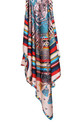 Large Square Silky Regal Tassel Rope Print Scarf in Rose Pink by Urban Mist