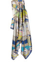 Large Square Silky Compass Vibrant Print Scarf in Grey/Blue by Urban Mist