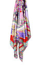 Large Square Silky Compass Vibrant Print Scarf in Purple by Urban Mist