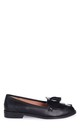 Rosemary Black Nappa Classic Slip On Loafer by Linzi
