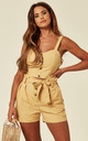 Bust Cropped Top And Shorts Co Ordinate In Yellow by Lucy Sparks
