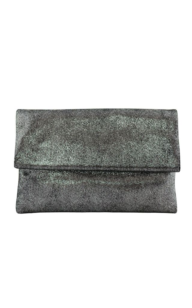 Eva Silver Clutch Bag by AVAAYA