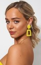 GEO YELLOW STATEMENT EARRINGS by The Fashion Bible