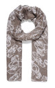 Vintage Floral Print Scarf in Stone Grey by Xander Kostroma