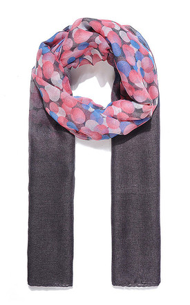 Pink Ombre Effect Circle Print Scarf by Xander Kostroma