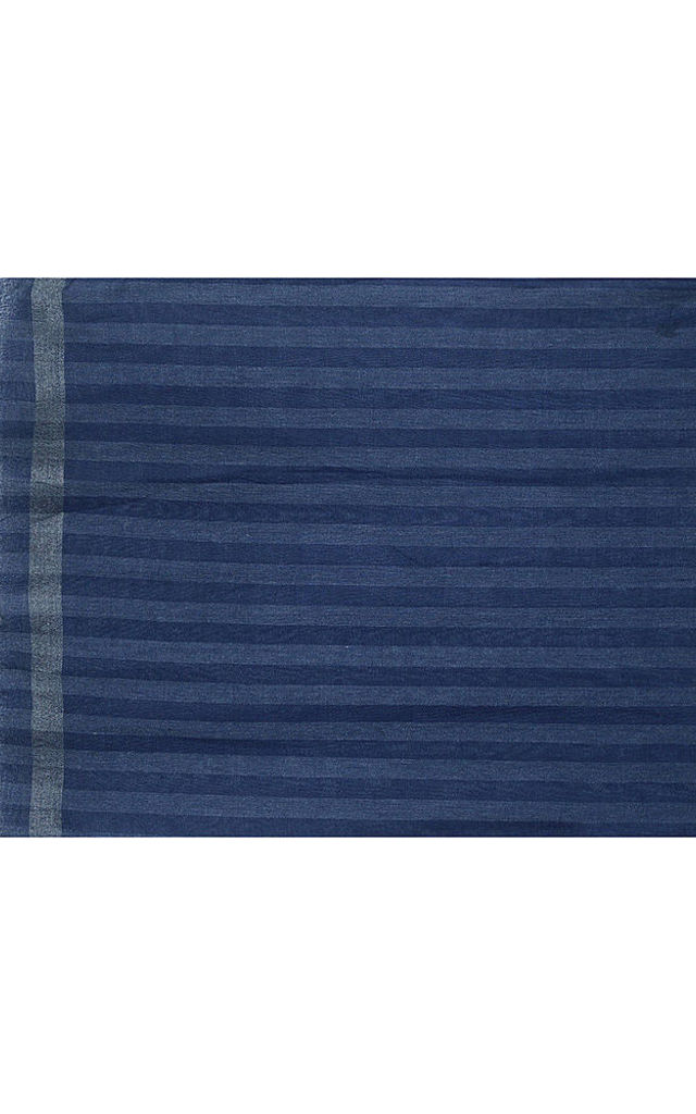 Navy Blue Light Weight Striped Scarf by Xander Kostroma