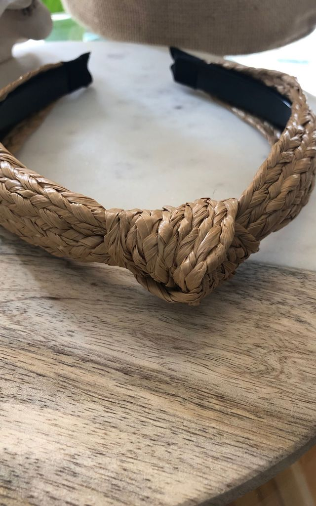 Raffia knot Headband by It's Me Not You