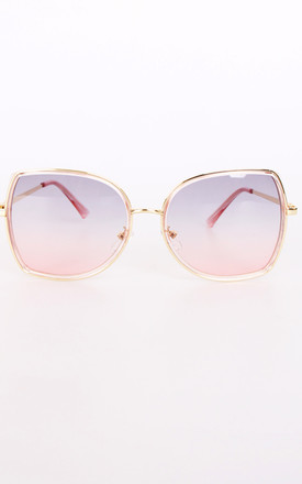 Oval Square Pastel Colour Lens Sunglasses Rose Gold by Urban Mist