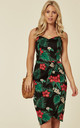 Mahina Tropical Holiday Floral Print Sarong Wrap Dress by Collectif Clothing