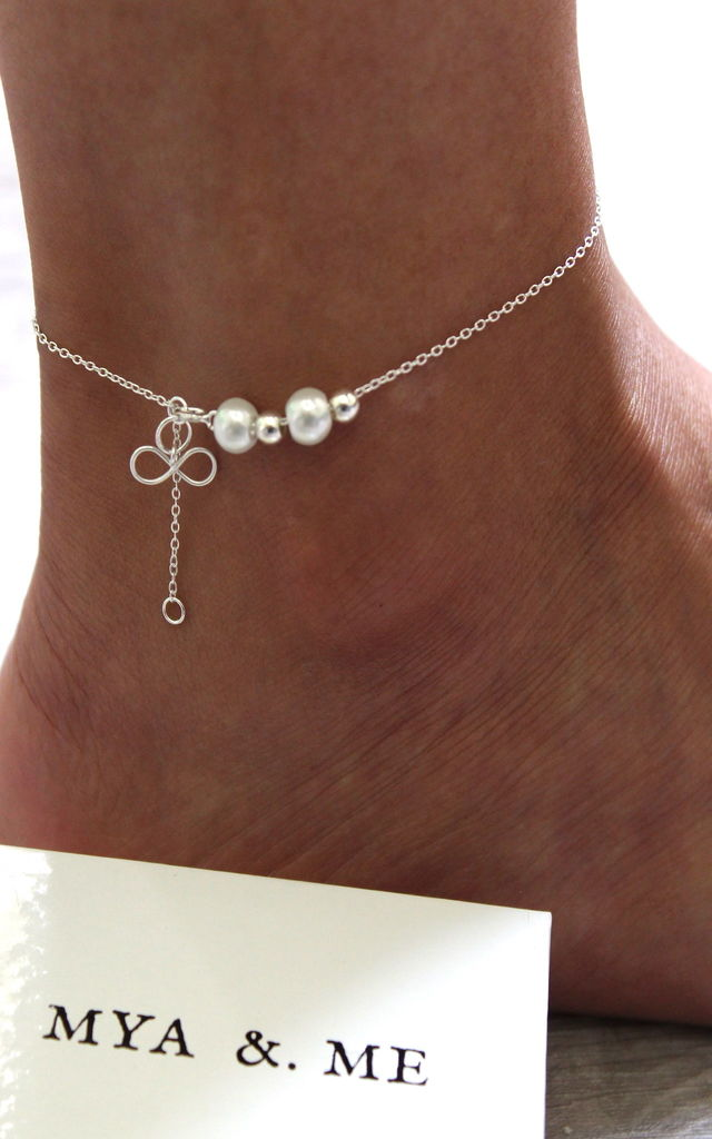 """When I Said Forever"" 925 Sterling Silver Infinity Anklet by Mya &. Me"