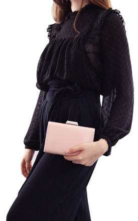 Ciara Patent Blush Clutch by AVAAYA Product photo