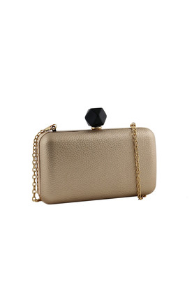 Harlow Gold Evening Clutch Bag by AVAAYA