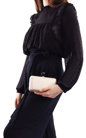 Harlow Gold Evening Clutch Bag by AVAAYA Product photo