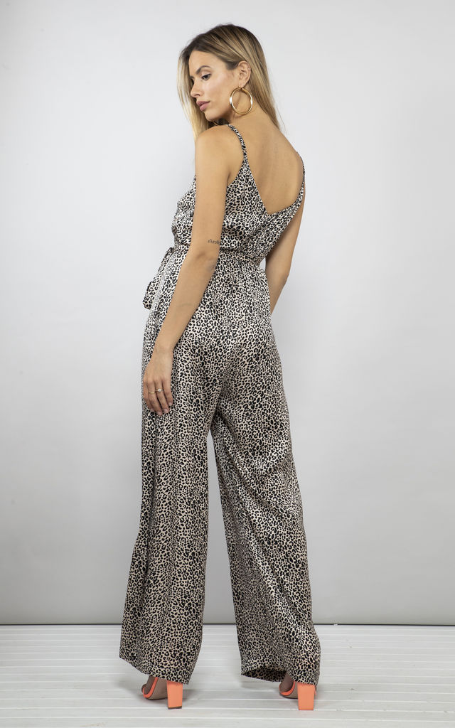 GABRIELLA JUMPSUIT IN SMALL NUDE LEOPARD image