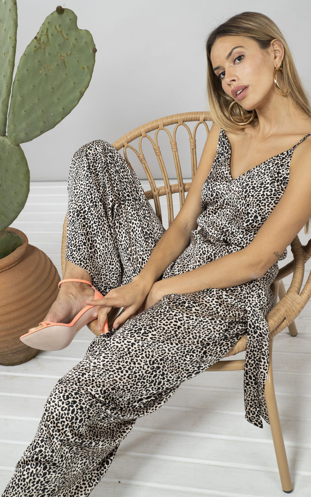 GABRIELLA JUMPSUIT IN SMALL NUDE LEOPARD by Dancing Leopard