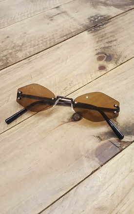 Tiny Oval sunglasses in Brown by De Las Flores