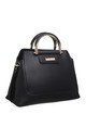VINTAGE MULTI COMPARTMENT TOTE BLACK by BESSIE LONDON