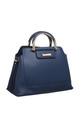 VINTAGE MULTI COMPARTMENT TOTE NAVY by BESSIE LONDON