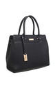 MULTI COMPARTMENT OFFICE TOTE BLACK by BESSIE LONDON