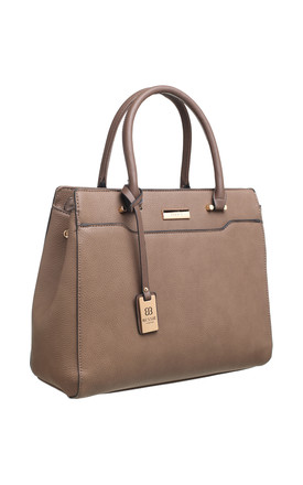 MULTI COMPARTMENT OFFICE TOTE KHAKI by BESSIE LONDON