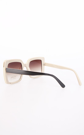 Vintage Chunky Square Sunglasses In Brown by Urban Mist
