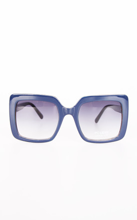 Vintage Chunky Square Sunglasses In Blue by Urban Mist