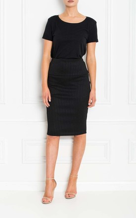 Sam Black Bandage Pencil Skirt by Honor Gold Product photo