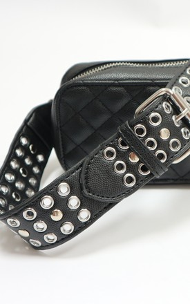 Black Belt Bag With Studs by Unscripted