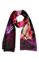 'Ebony Bright' Long Luxury Silk Scarf by Leanne Claxton