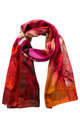 'Bauhinia' Long Luxury Silk Scarf by Leanne Claxton