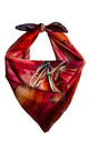 'Bauhinia' Small Luxury Silk Scarf by Leanne Claxton