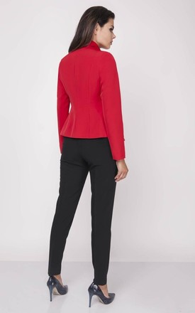 Classic Short Jacket in Red by Bergamo