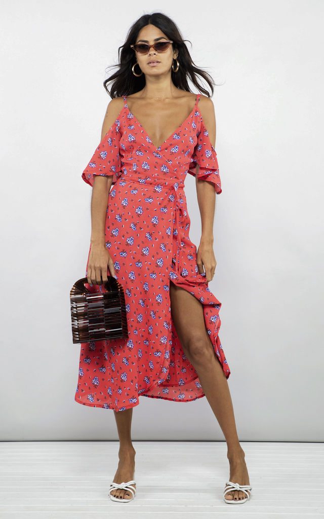 IVY DRESS IN RED DAISY by Dancing Leopard
