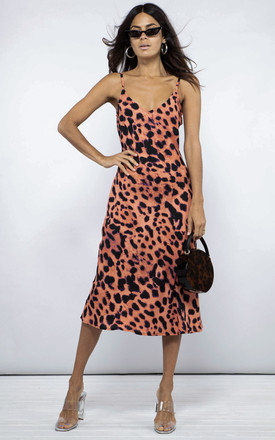 Jade Dress In Plorange Leopard by Dancing Leopard Product photo