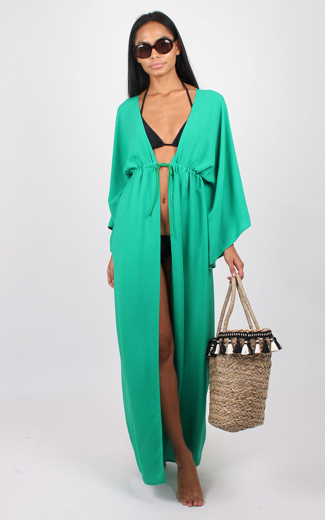 Diana Maxi Kaftan in green by Bullet