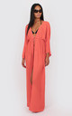 Diana Maxi Kaftan in peach by Bullet