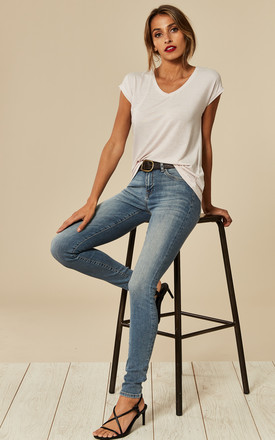 Skinny Mid Blue Jean by Selected Femme Product photo