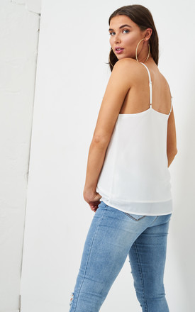 Jayda White Knot Detail Cami Top by love frontrow