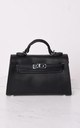 Faux Leather Mini Tote Bag Black by LILY LULU FASHION