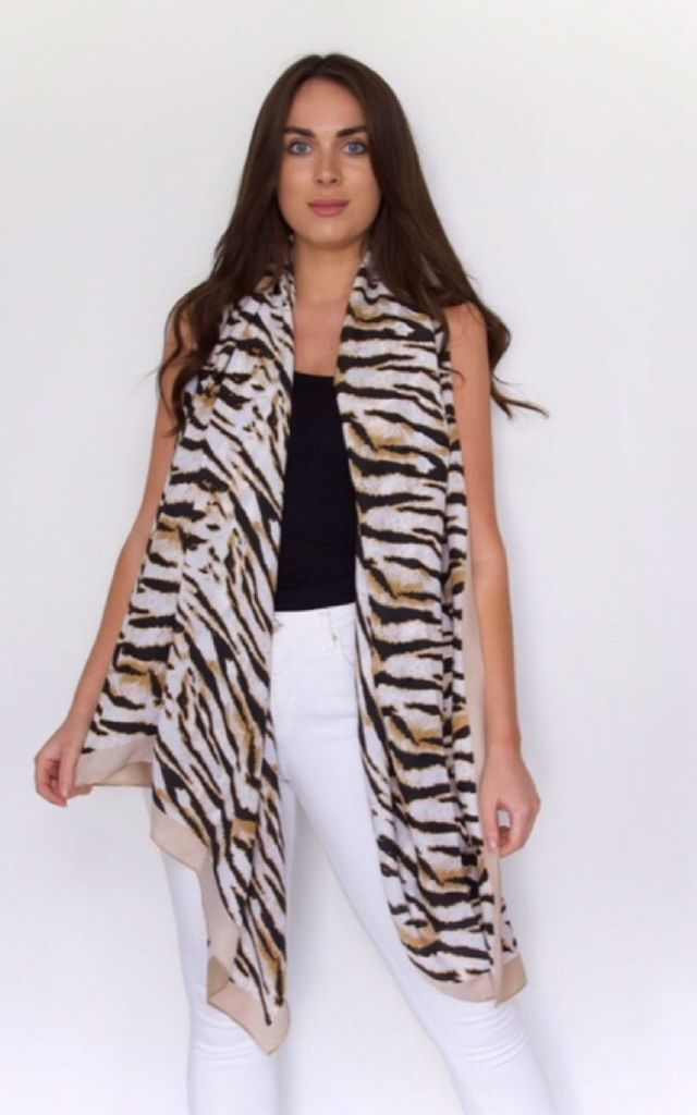 Animal Print Scarf by Styled By Grazia