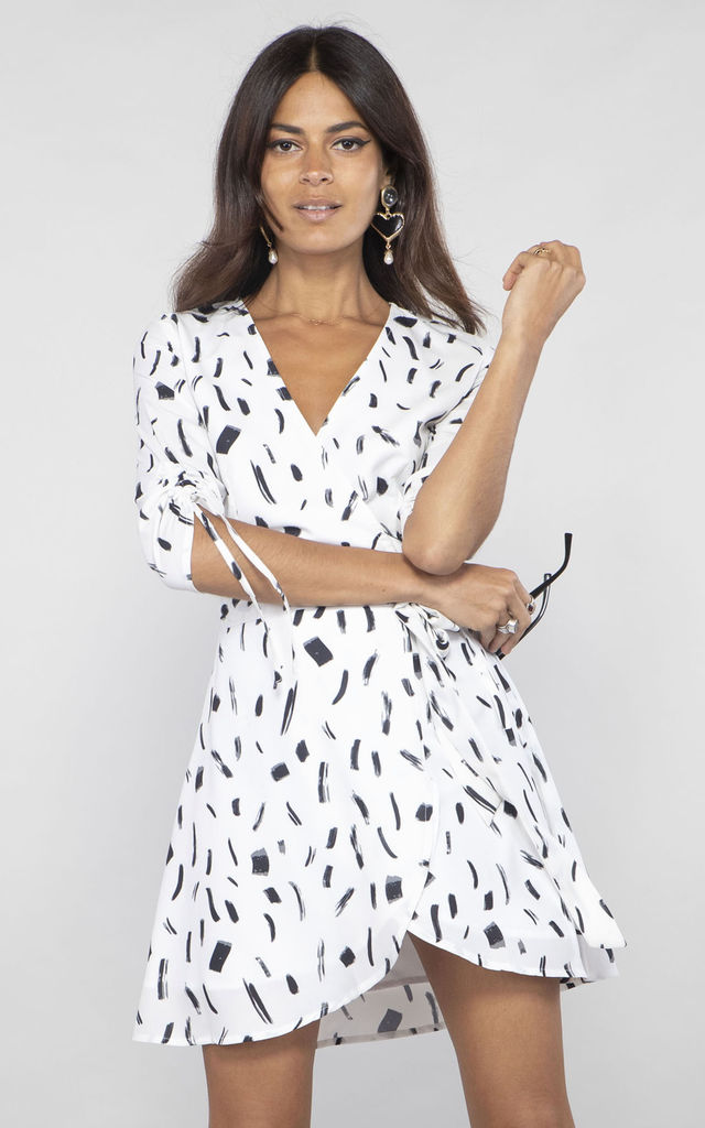 TRIXIE MINI DRESS IN BLACK AND WHITE by Dancing Leopard